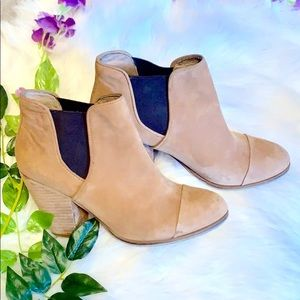 Vince Camuto Suede Pull on Bootie in Tan